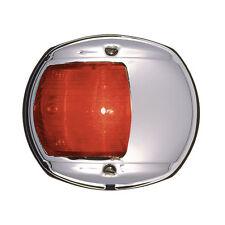 PERKO LED SIDE LIGHT 12V RED W/ CHROME PLATED BRAS