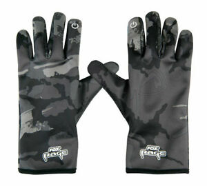 FOX Rage NEW Thermal Camo Gloves - Pike / Lure Fishing - All Sizes