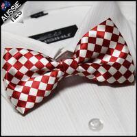 Red & White Harlequin Bow Tie Men's Bowtie