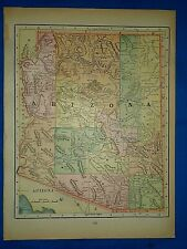 Vintage 1894 MAP ~ ARIZONA TERRITORY ~ Old Antique Original Atlas Map
