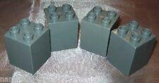 Lego Duplo Steine 4er dunkel grau  doppelt hoch sonderstein 2x2 aus 4777 4776