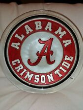 New Alabama Crimson Tide birdbath glass