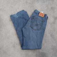 Levis 527 Boot cut Red Tab Men's Denim Blue Jeans Size 36x34 Distressed