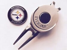 Nfl Pittsburgh Steelers Golf Ball Marker and Magnetic Divot Tool