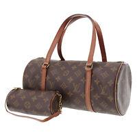 Louis Vuitton Papillon 30 Hand Bag Monogram Canvas M51385 Authentic #MM19 S