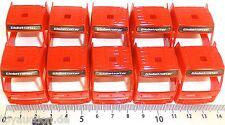 10x CAMION Cabine d'opérateur rouge VOLVO Globetrotter Charge Bastel Déco Pièces