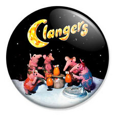 """Clangers 25mm 1"""" Pin Badge Button Kids 70s Retro TV Dragon Soup Kitsch Indie"""