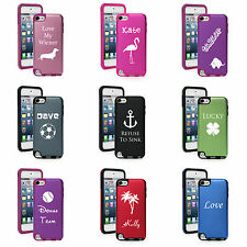 CUSTOM Apple iPod Touch 5th Generation Aluminum Silicone Hard Case PERSONALIZED