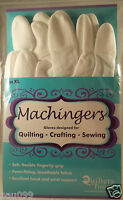 Machingers XL Gloves Designed for Quilting, Crafting, Sewing by Quilters Touch
