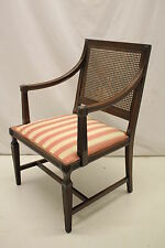 Fabulous Italian Neo-Classical Beechwood Arm Chair with Caned Back, Circa 1920's