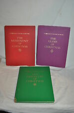 3 Vintage 1963 BOOK of CHRISTMAS Life Glory, Pageantry, Merriment BOOKS Stories