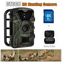 "8GB 12MP 1080P Game Trail Long Range Hunting Camera Night Vision+ Bag 2.4"" LCD"