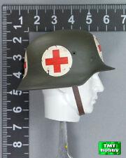 1:6 Scale DID WWII German Medic Peter D80100 - Metal Helmet w/ First Aid Sign