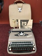 Vintage Portable Consul Typewriter with Leather Case Books Accessories