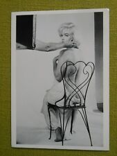 80s MARILYN MONROE POSTCARD 1960 chair sitting by Eve Arnold Fotofolio
