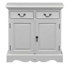 Mahogany Mini Sideboard with Two Doors -  In Retro Grey
