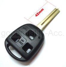 Replacement 3 button 42mm key case remote fob For Lexus IS200 GS300 LS400 RX300