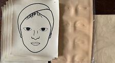 7pc Tattoo Practice Skin 3D Permanent Makeup Eyebrow Microblading Make Up Face