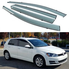 1Set Window Vent Visor Deflector Shade Sun/Rain for Volkwagen Golf MK7 2014-2018