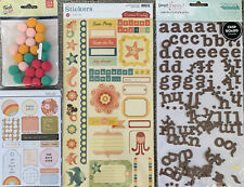Lot Of Scrapbook Stickers Embellishments Thickers Cosmo Cricket Studio Calico