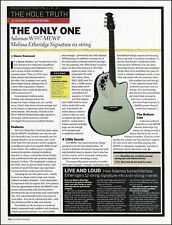 Ovation Adamas Melissa Etheridge Signature guitar sound check review article