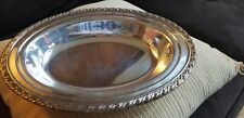 """LARGE VINTAGE ONEIDA SILVERSMITHS 13"""" OVAL SILVERPLATE SERVING TRAY"""