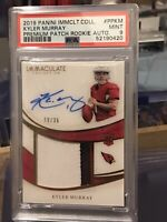 2019 Immaculate Kyler Murray ROOKIE RC PATCH AUTO/35 PSA 9 Mint Low POP(2) RPA