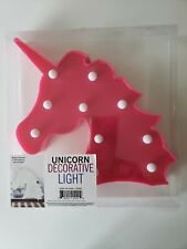 3D Unicorn Head Visual Night Light Nursery Kids Bedroom Led Lamp Home Decor Gift