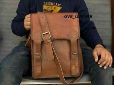 Leather Distressed Vintage Messenger Laptop Made By Hand Shoulder Bag Briefcase