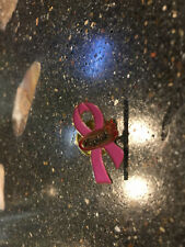 Yoplait Yogurt Pink Ribbon Breast Cancer Pin Back Lapel Hat Tie Tack Jacket