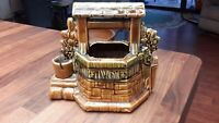 """McCoy Vintage """"Oh Wishing Well Grant a Wish to Me"""" Ceramic Planter Wishing Well"""