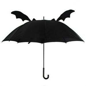 3D Bat Wing Umbrella, Gothic Witch Wiccan Pagan Vampire Wings Black Rain Brolly