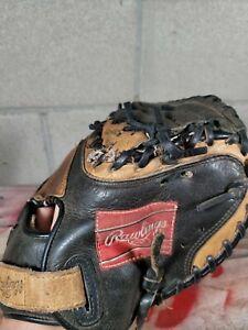 Rawlings RCM33TB Youth Leather Baseball Catchers Mitt Glove Lite Toe Right Throw