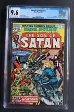 MARVEL SPOTLIGHT #22 Early SATANA SON OF SATAN Hulu TV 1975 Ghost Rider CGC 9.6