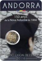 manueduc  2 Euro  ANDORRA 2016   CONMEMORATIVA  Nueva REFORMA de 1866 UNC