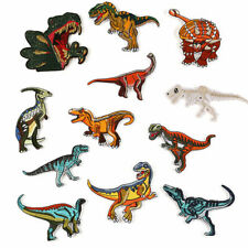 12pcs Embroidery Patch Iron On Dinosaur Sew Badge Clothes Fabric Applique Crafts