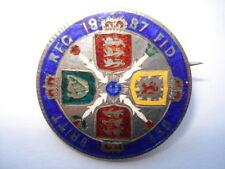 1887 VICTORIA FLORIN FIVE COLOUR HAND ENAMELLED COIN