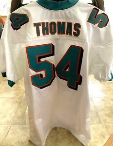 Zach Thomas Miami Dolphins 2001 to 2007 authentic Reebok white game model jersey