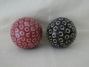 Original Antique Scottish Pottery Carpet Balls