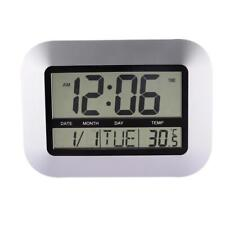 Digital Wall Clocks With Indoor And Outdoor Temperature Quartz Home Decors Watch
