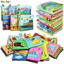 My First Soft Book Nontoxic Fabric Baby Cloth Book Toy Pack of 6