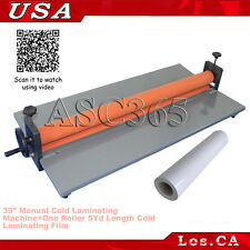 "39"" Manual Cold Laminating Machine Photo Laminator+5Yd Cold Laminating Film"