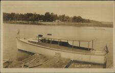 Cape Rosier ME The Lucy B at Hiram Blake Camps Real Photo Postcard