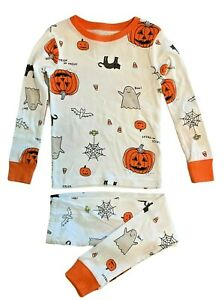 Carter's Halloween Toddler Snug Fit Pajamas pumpkin black cat bat spider ghost