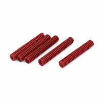 8mm Outer Dia 50mm Length Medium Load Compression Mould Die Spring Red 5pcs