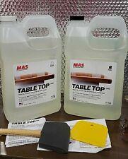 Clear Epoxy Resin Two Gallon Kit Mas Tabletop Pro Epoxy Resin Amp Hardener
