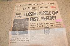 59 Chicago American Newspaper Buddy Holly Valens Bopper Death Clear Lake Iowa