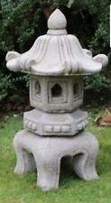 Large 4pcs Pagoda Chinese Japanese Lantern Stone Garden Ornament Handmade Decor