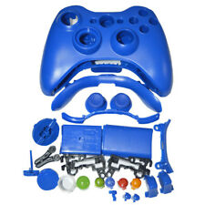 BLUE Full Housing Shell Case Cover + Buttons for XBox 360 Wireless Controller