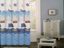 Rugged Bear Shower Curtain 72�x72� Cars Trucks Boats Airplanes Sharks Blue New